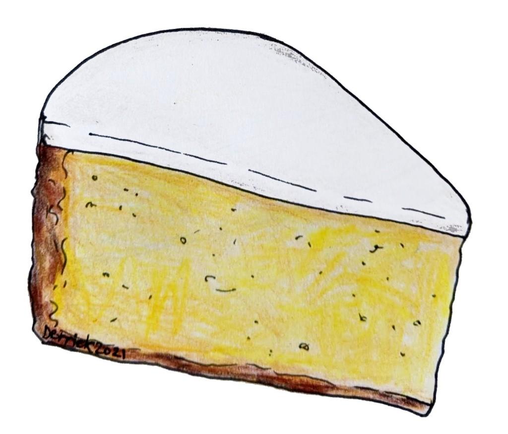 Illustration of Nantes cake gateau Nantais