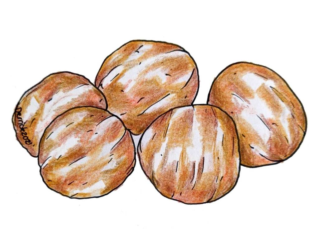 Traditional French sweet dessert marrons glacés glazed chestnuts