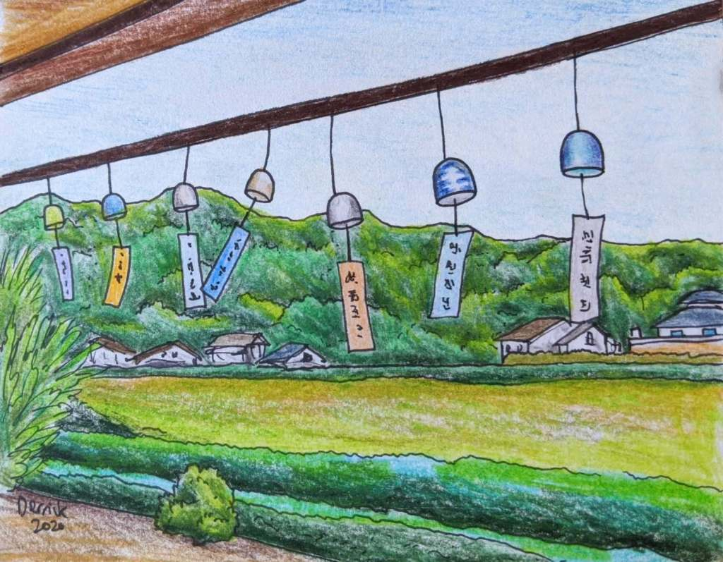 Japanese pottery wind bells Kyushu okawachiyama wind bell furin festival